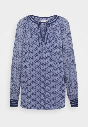 MADDIE BLOUSE  - Blouse - linear cube / blue ink