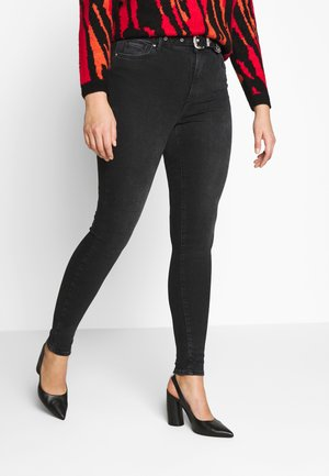 VMSOPHIA SKINNY BELT CURVE - Jeans Skinny Fit - black