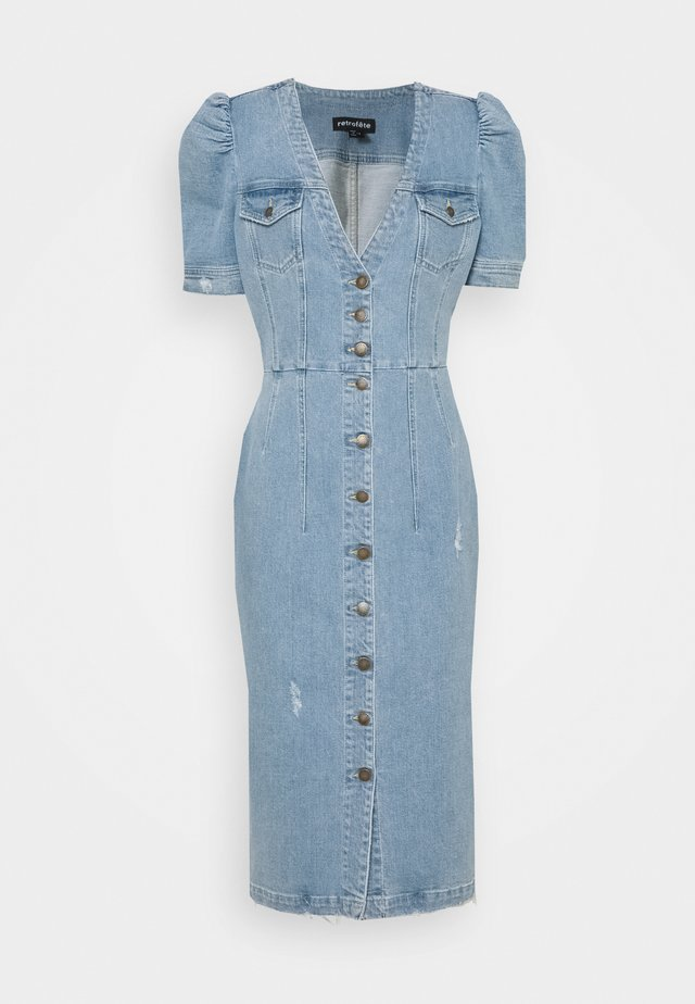 ANNIE DRESS - Vestito di jeans - light laguna