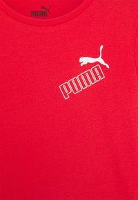 Puma - AMPLIFIED TEE  - Print T-shirt - red - 2