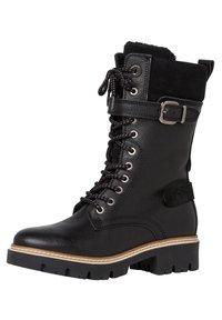 Tamaris - Cowboy/biker ankle boot - black comb - 3
