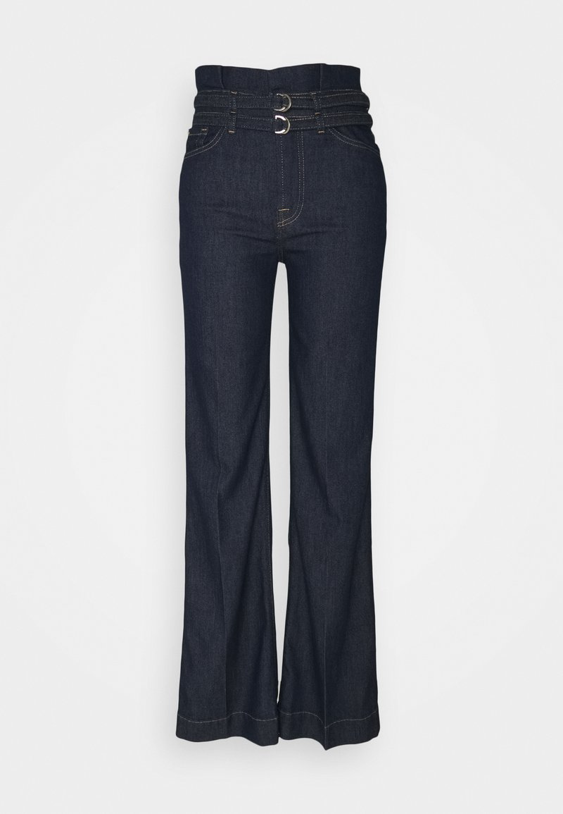 7 for all mankind - PAPERBAG MODERN DOJO LEFHANREL - Flared Jeans - dark blue