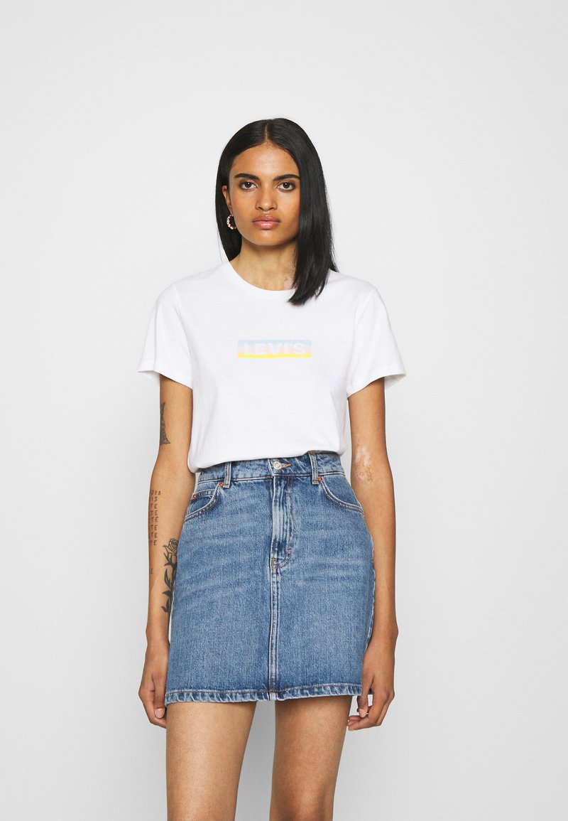 Levi's® - THE PERFECT TEE - T-shirt imprimé - gradient white