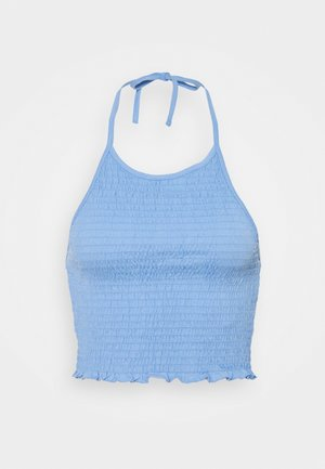 PCTILY CROPPED HALTER NECK - Top - vista blue