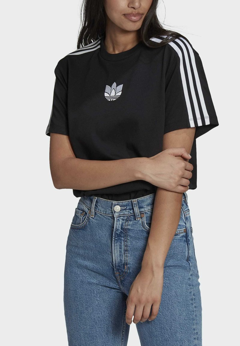 adidas Originals - LOOSE FIT TEE - T-shirt con stampa - black