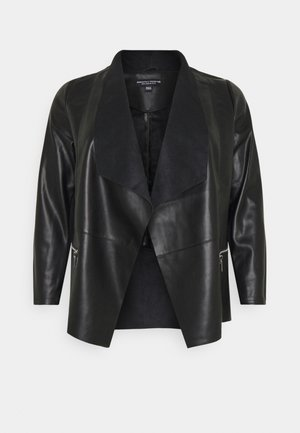 WATERFALL JACKET - Jacka i konstläder - black