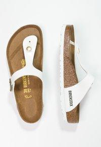 Birkenstock - GIZEH - T-bar sandals - white - 2