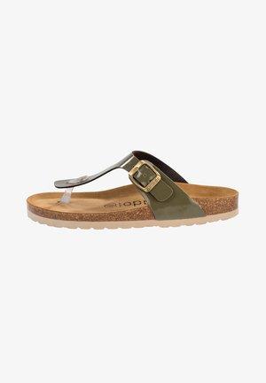 PALADO KOS - T-bar sandals - olive lack