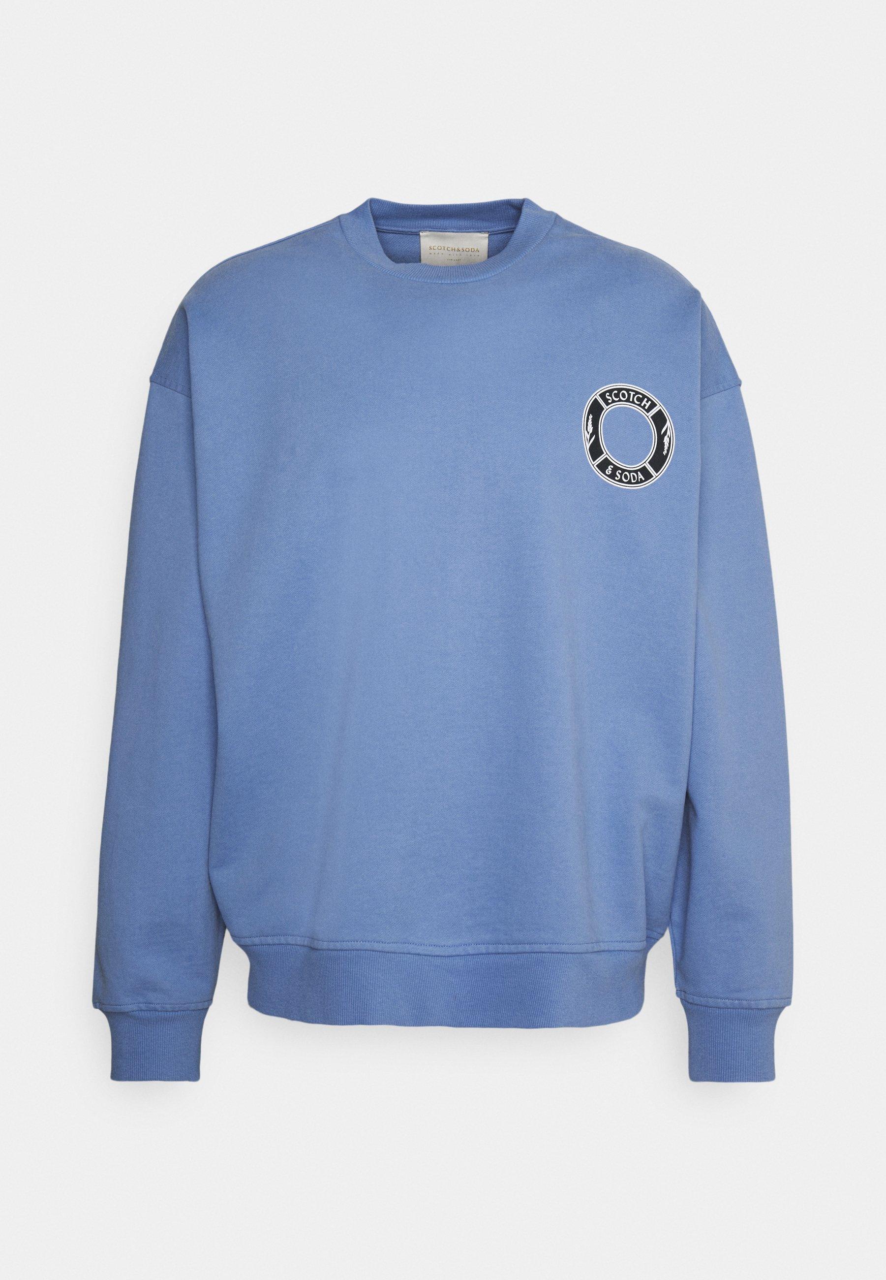Men ORGANIC CREWNECK WITH LOGO ARTWORK - Sweatshirt