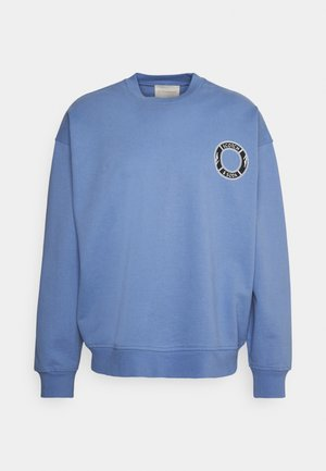 ORGANIC CREWNECK WITH LOGO ARTWORK - Collegepaita - seaside blue