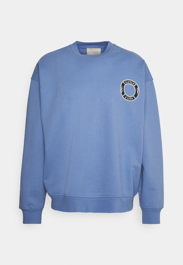ORGANIC CREWNECK WITH LOGO ARTWORK - Sweatshirt - seaside blue