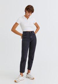 PULL&BEAR - Slim fit jeans - mottled black - 1