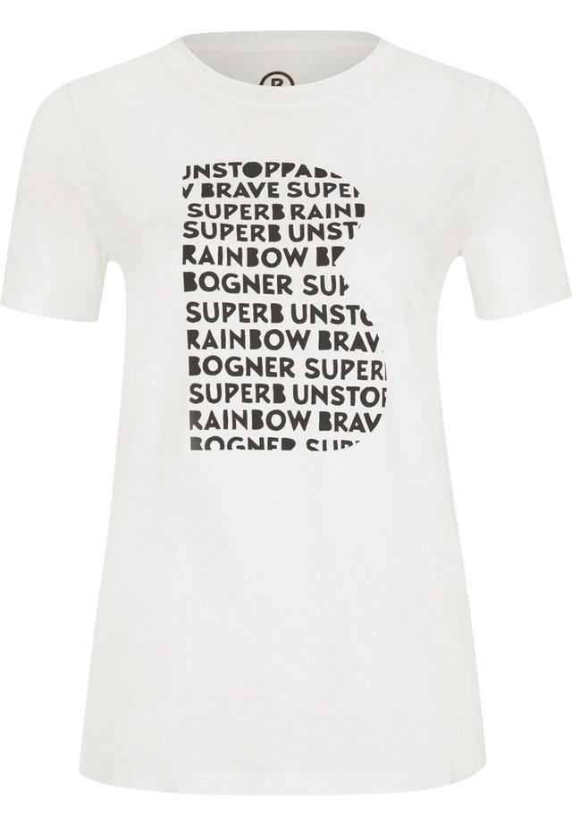 LANA - T-shirt imprimé - off-white