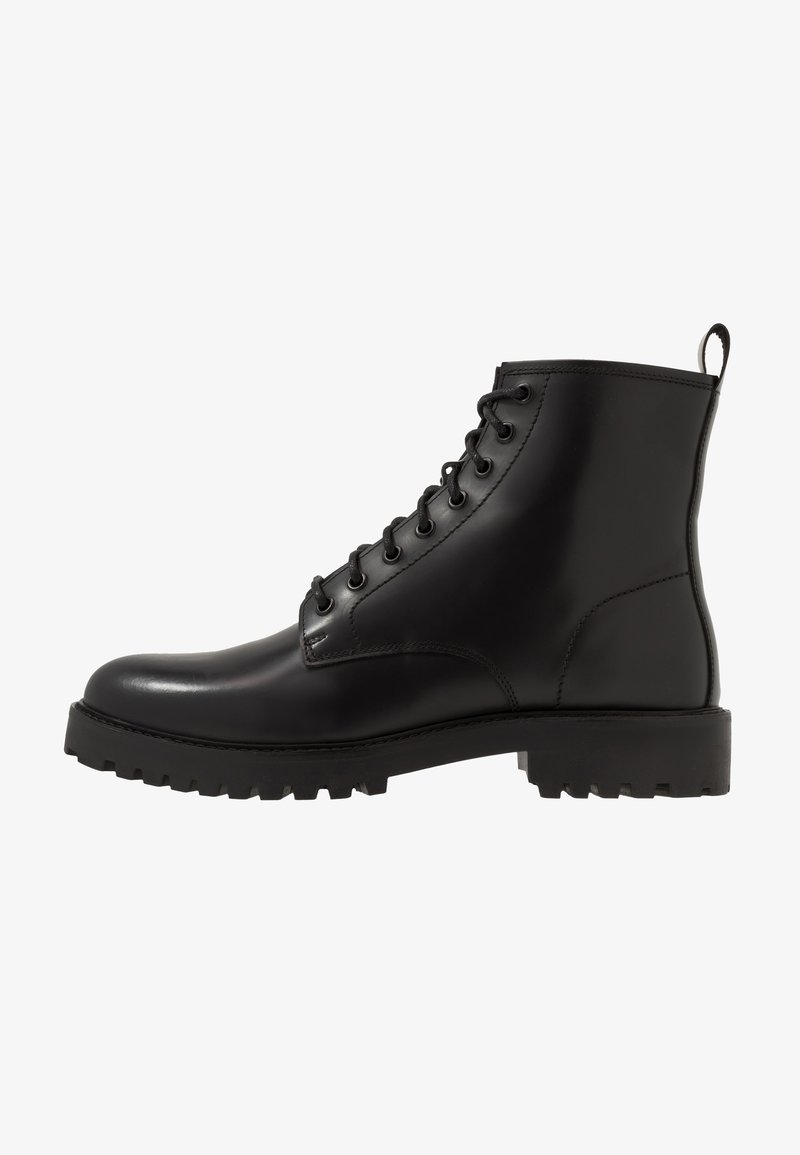 Walk London - SEAN LACE UP BOOT - Lace-up ankle boots - black
