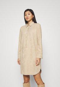 Opus - WESA - Shirt dress - macadamia - 0