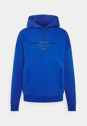 OVERSIZED INJECTION MOULD BRANDED HOOD UNISEX - Luvtröja - blue