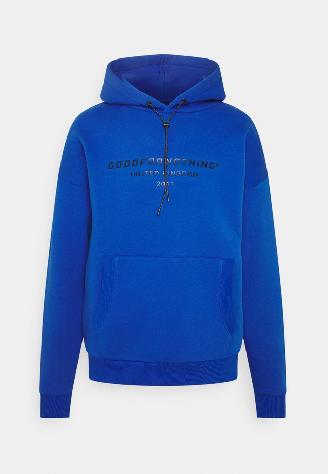 OVERSIZED INJECTION MOULD BRANDED HOOD UNISEX - Hoodie - blue