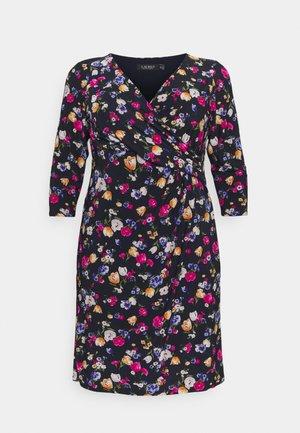 CLEORA DAY DRESS - Jersey dress - lighthouse navy/pink/multi