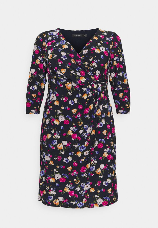 CLEORA DAY DRESS - Robe en jersey - lighthouse navy/pink/multi