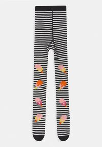WAUW CAPOW by Bangbang Copenhagen - HOT POP WITH FEET UNISEX - Tights - black/white - 0