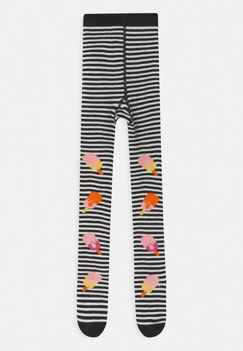 HOT POP WITH FEET UNISEX - Tights - black/white