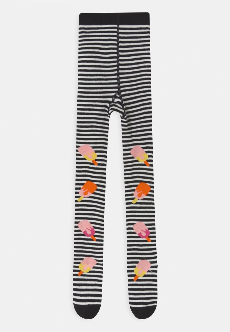 WAUW CAPOW by Bangbang Copenhagen - HOT POP WITH FEET UNISEX - Tights - black/white
