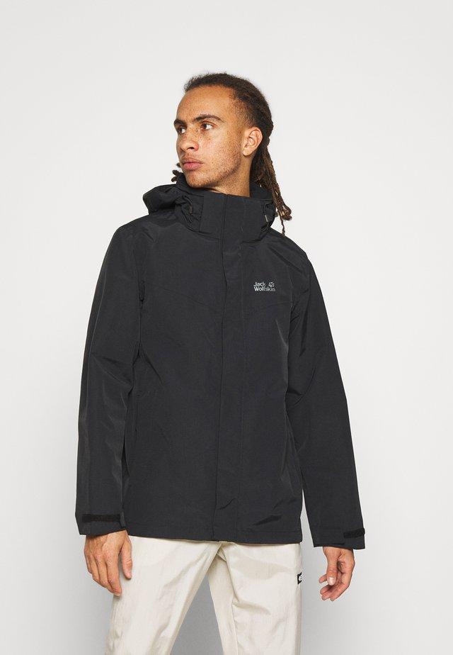 PEAKS  - Hardshell jacket - black