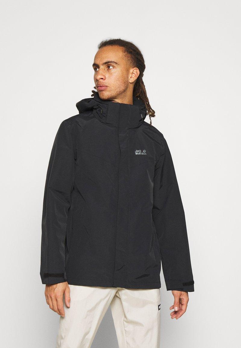 Jack Wolfskin - PEAKS  - Hardshell jacket - black