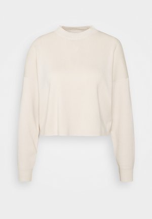 FUNNEL NECK CROPPED JUMPER - Strikpullover /Striktrøjer - cream