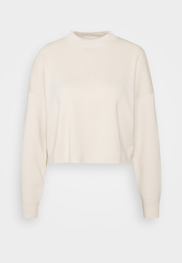 FUNNEL NECK CROPPED JUMPER - Svetr - cream