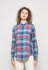 Polo Ralph Lauren - PLAID - Button-down blouse - pink/blue - 0