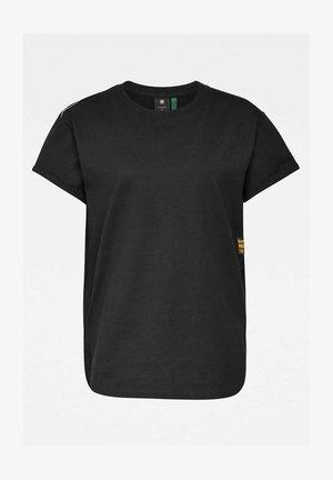 LONG SLIT TEE - Print T-shirt - dk black