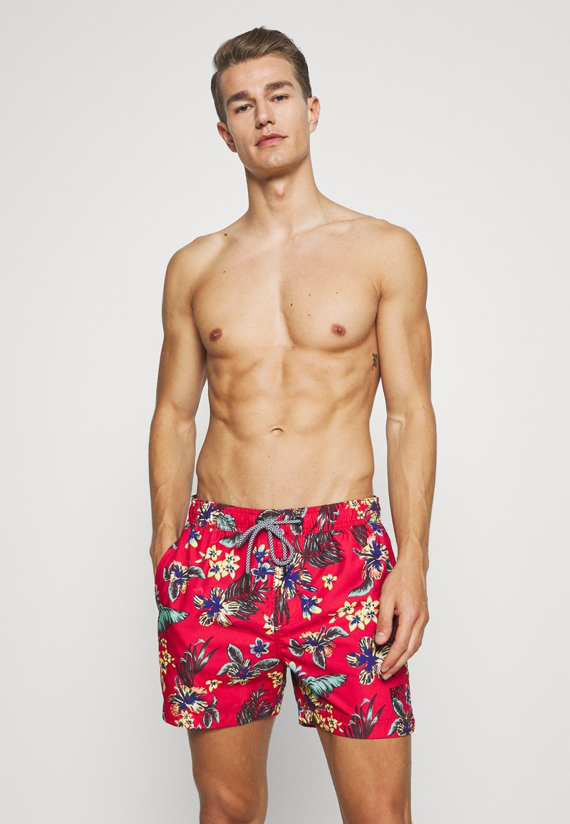 Superdry - SUPER BEACH VOLLEY - Plavky - vintage tropical red
