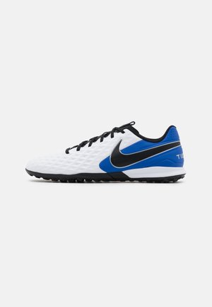 TIEMPO LEGEND 8 ACADEMY TF - Astro turf trainers - white/black/hyper royal/metallic silver