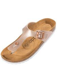 Palado - T-bar sandals - rose bronze - 1