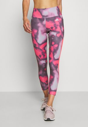 AEROREADY TRAINING SPORTS - Tights - pink/white