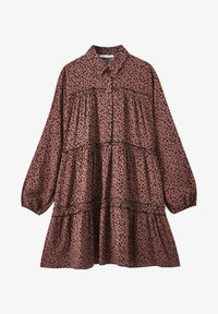 PULL&BEAR - Shirt dress - mottled brown - 4