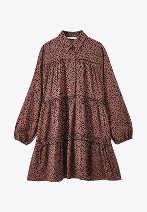 Shirt dress - mottled brown
