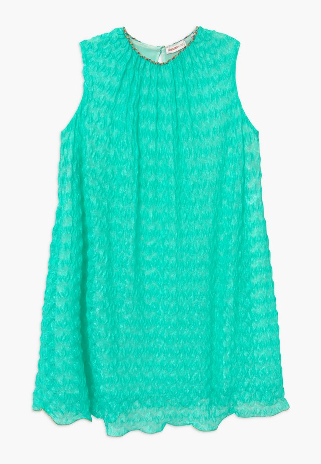 Robe pull - turquoise