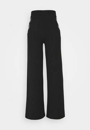 CUT OUT PANTS - Trousers - black