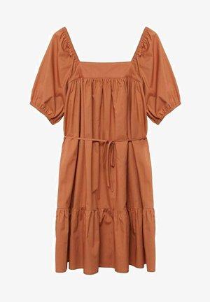Denní šaty - orange brûlé