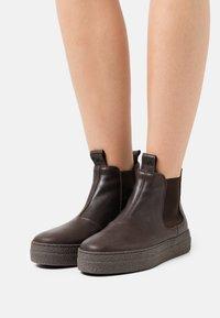 Oa non fashion - Platform ankle boots - ebano - 0