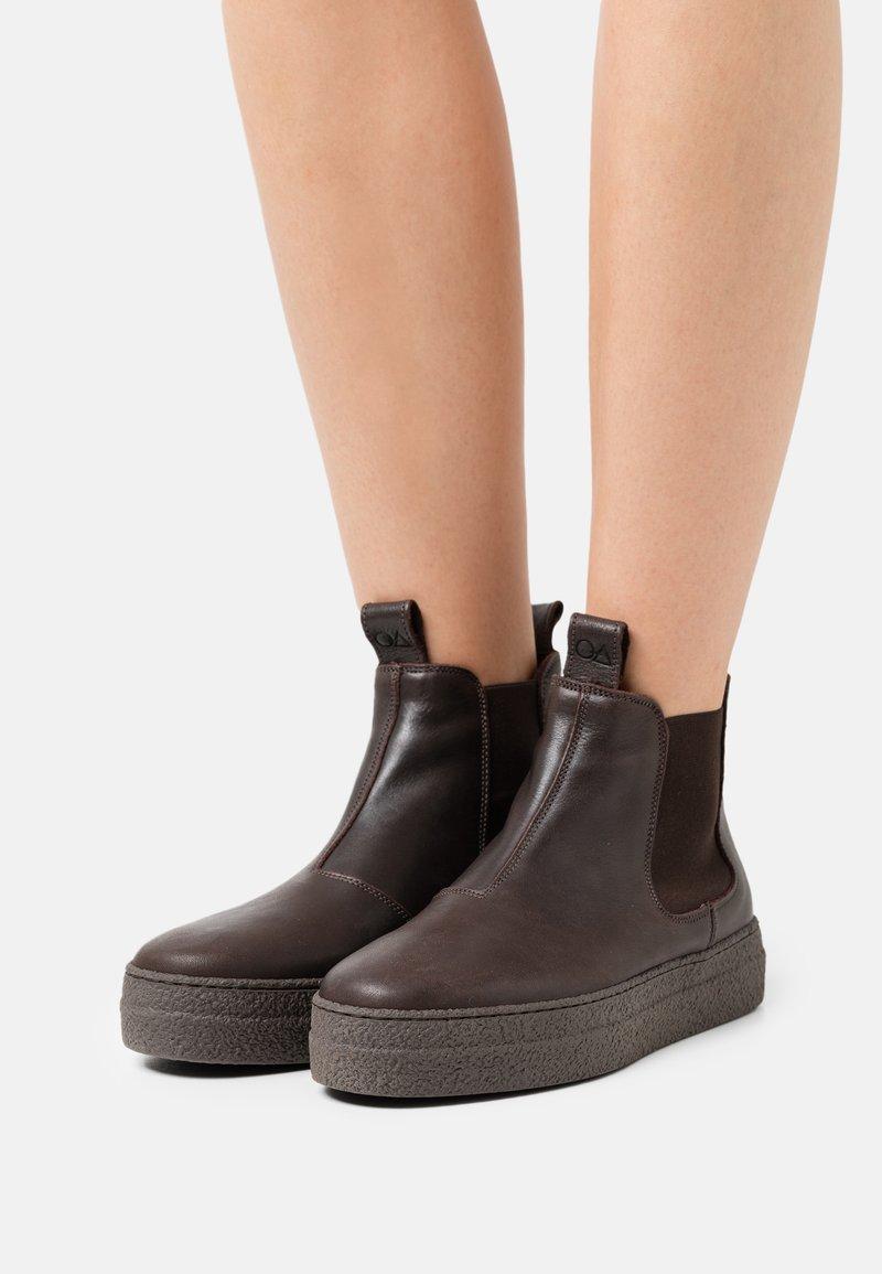 Oa non fashion - Platform ankle boots - ebano