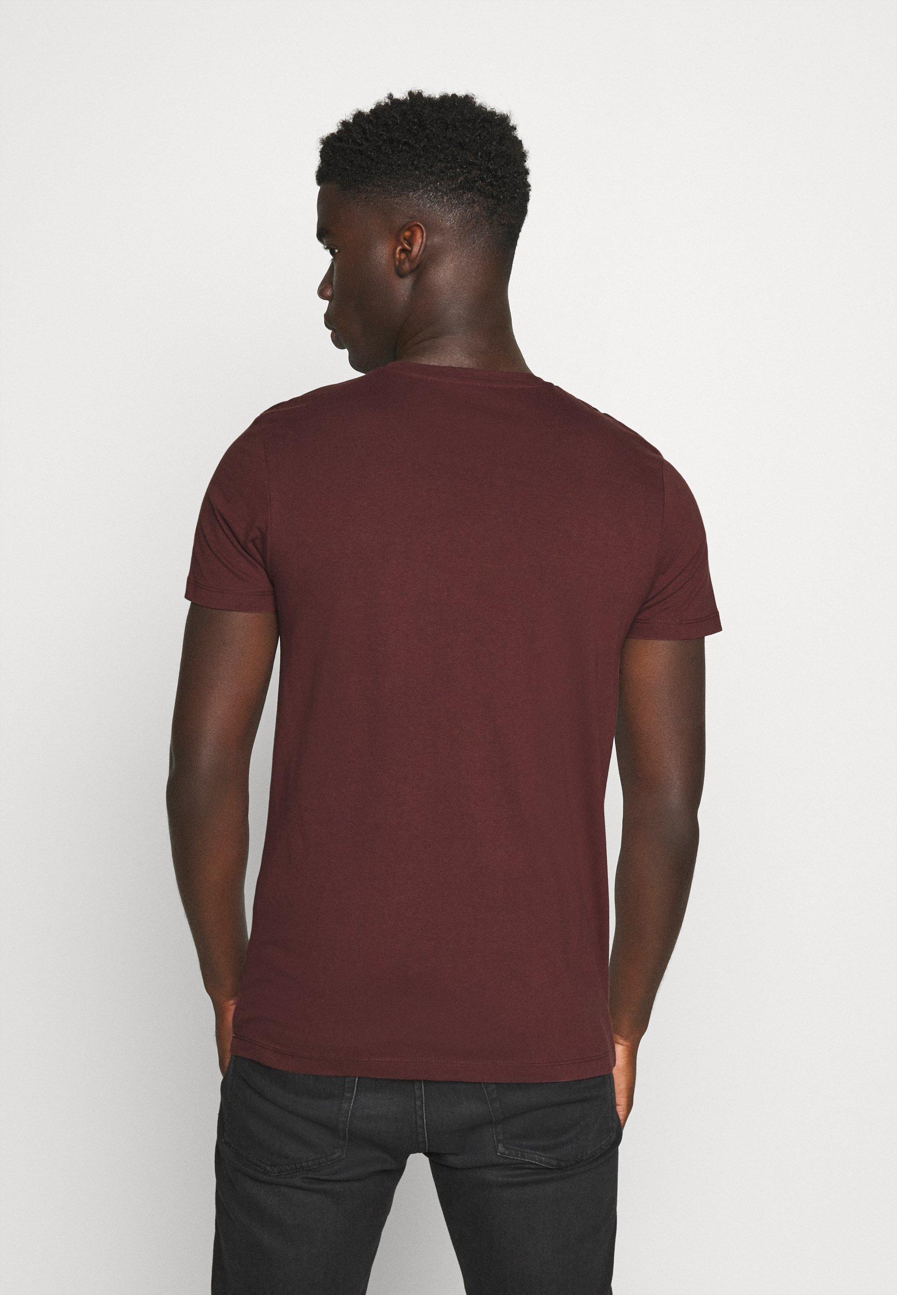 TOM TAILOR DENIM COINPRINT - Print T-shirt - decadent bordeaux kQaHA