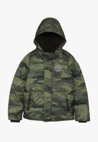 Abercrombie & Fitch - ESSENTIAL PUFFER - Winter jacket - khaki - 0