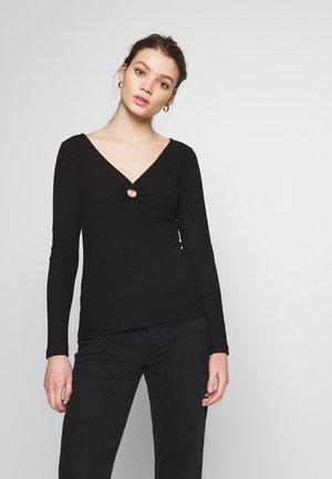 ONLLAJA O RING - Maglietta a manica lunga - black