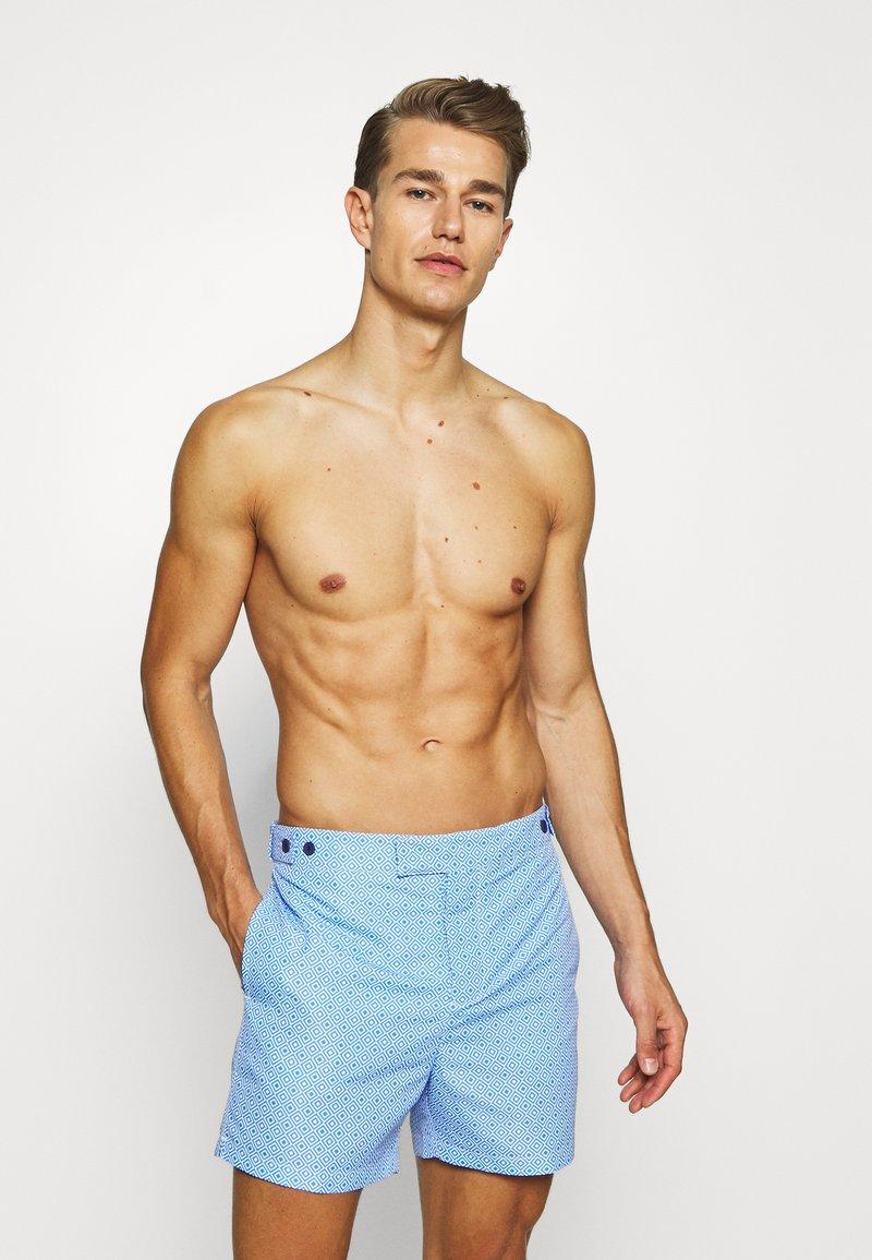 Frescobol Carioca - TRUNKS TAILORED ANGRA - Swimming shorts - blue