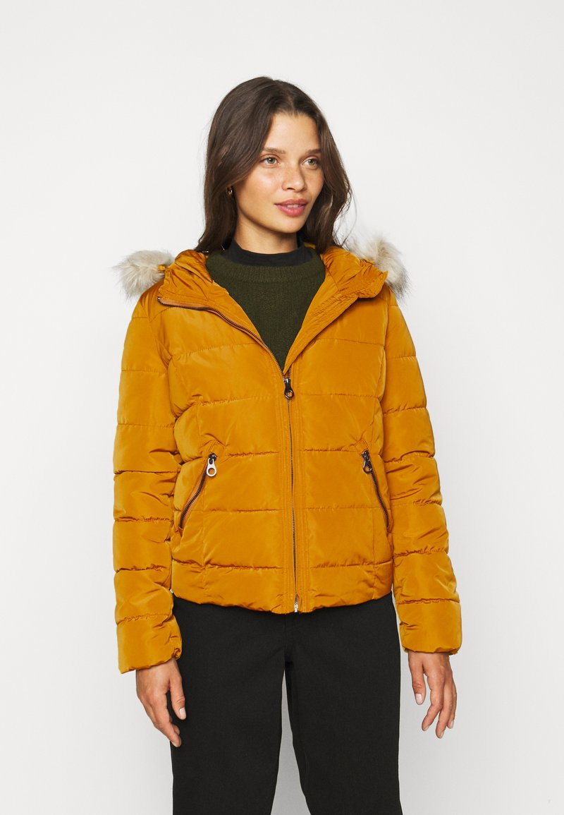 Vero Moda Petite - VMMOLLIE SHORT JACKET - Light jacket - buckthorn brown