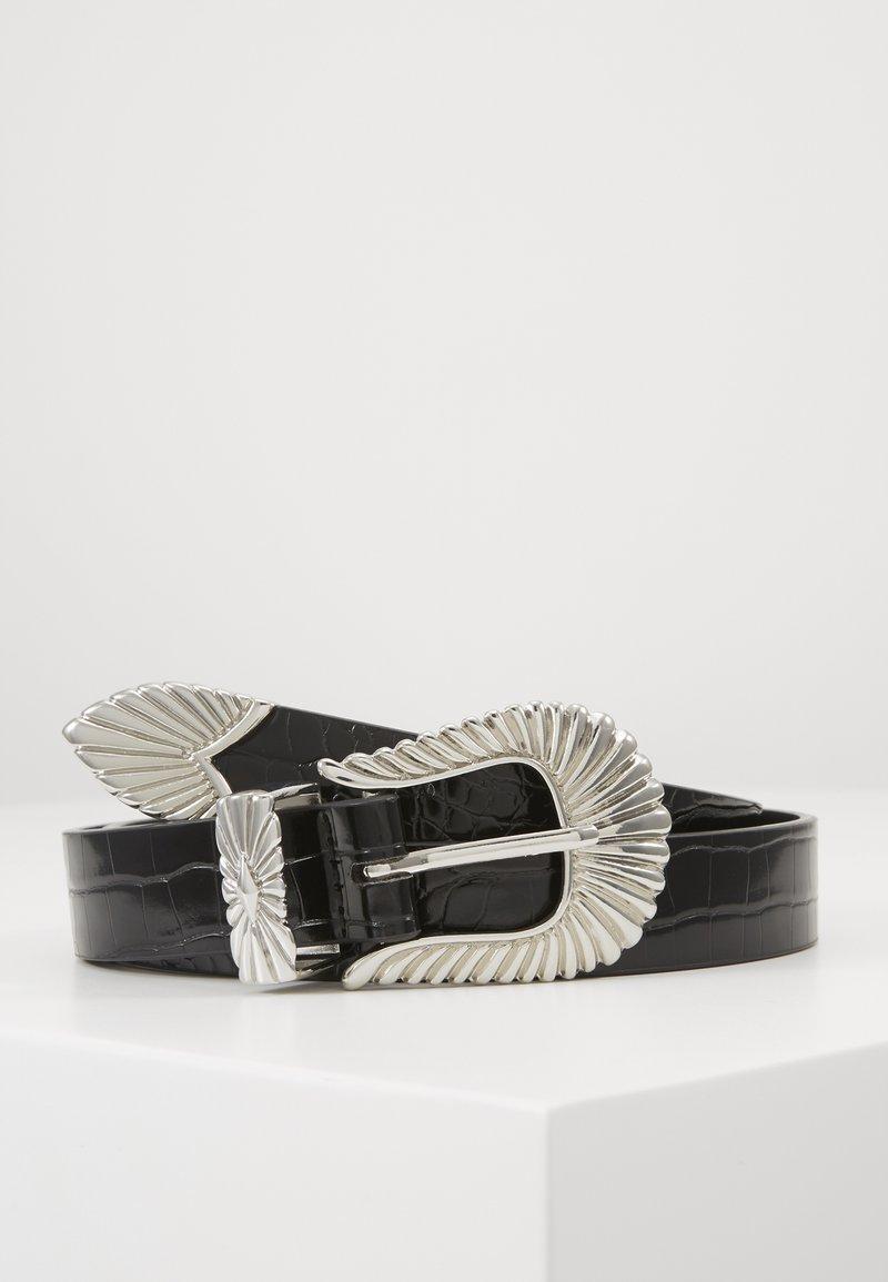 Gina Tricot - SIMONE BELT - Belte - black/silver