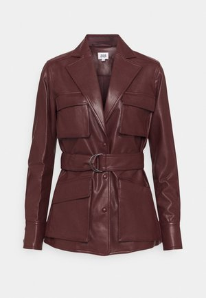 CECILIA JACKET - Veste en similicuir - reddish brown